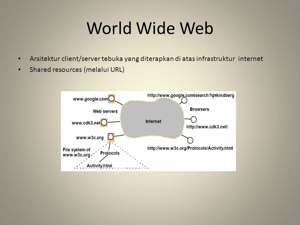 World Wide Web Arsitektur client/server tebuka yang diterapkan di atas infrastruktur internet.