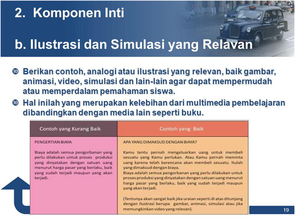 2. Komponen Inti b. Ilustrasi dan Simulasi yang Relavan