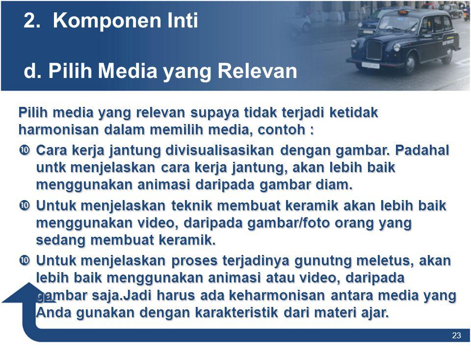 2. Komponen Inti d. Pilih Media yang Relevan