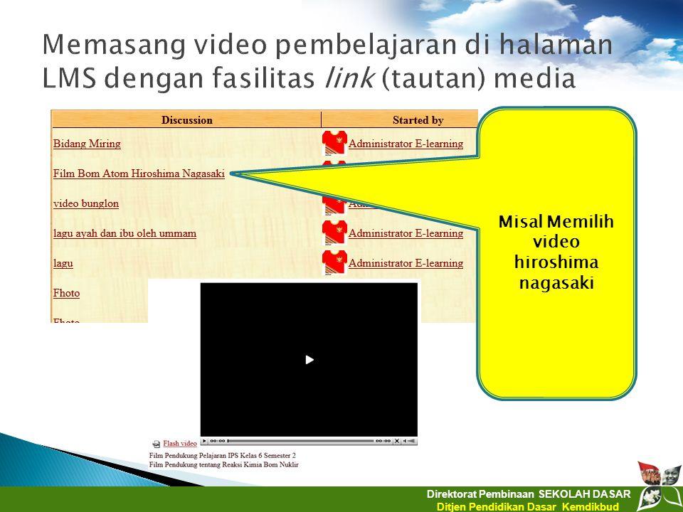 Misal Memilih video hiroshima nagasaki