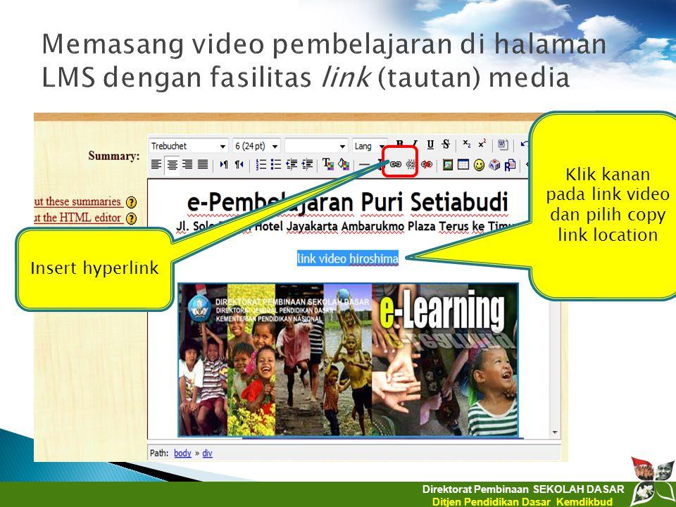 Klik kanan pada link video dan pilih copy link location