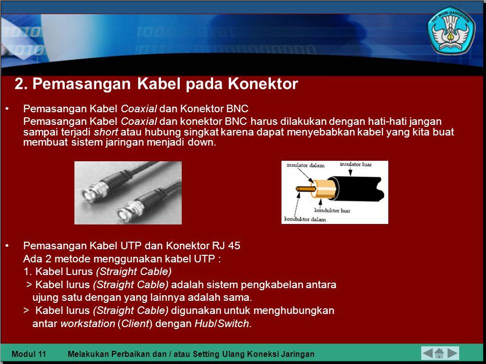 2. Pemasangan Kabel pada Konektor