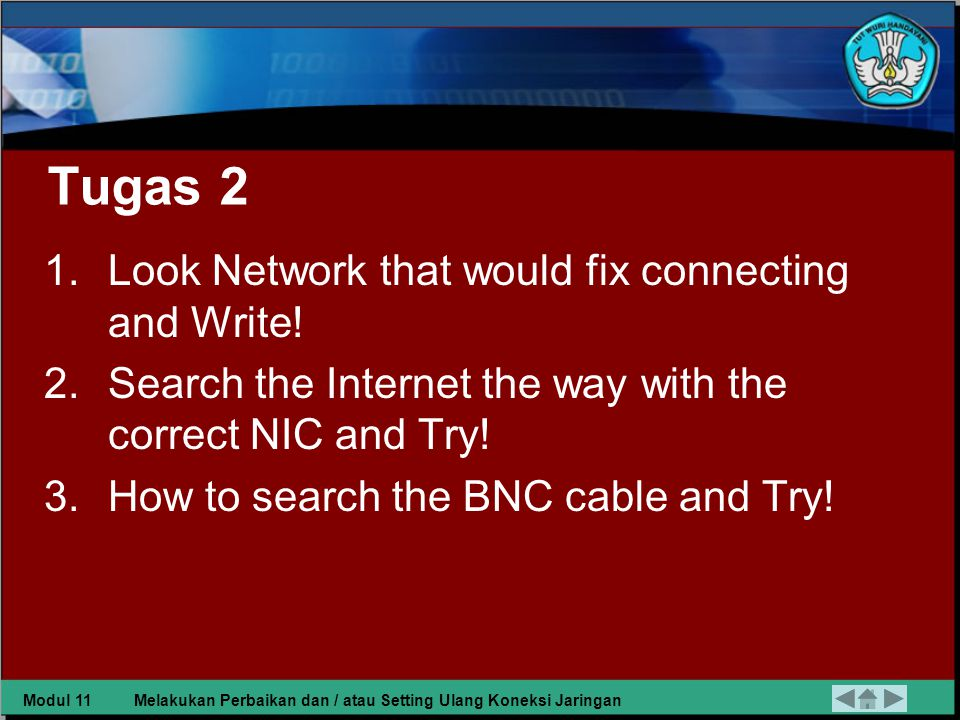 Tugas 2 Look Network that would fix connecting and Write!