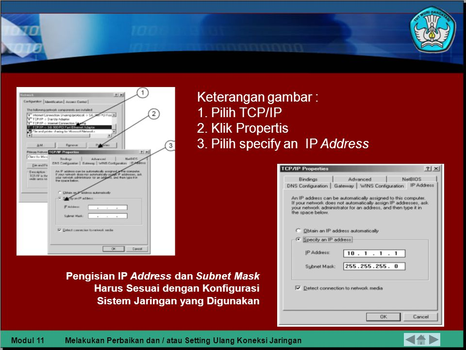 3. Pilih specify an IP Address