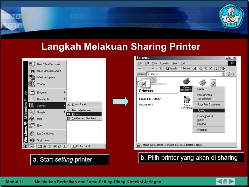 Langkah Melakuan Sharing Printer