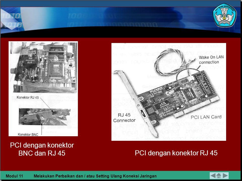 PCI dengan konektor BNC dan RJ 45