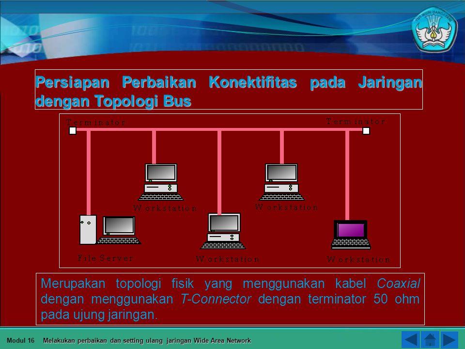 Persiapan Perbaikan Konektifitas pada Jaringan dengan Topologi Bus