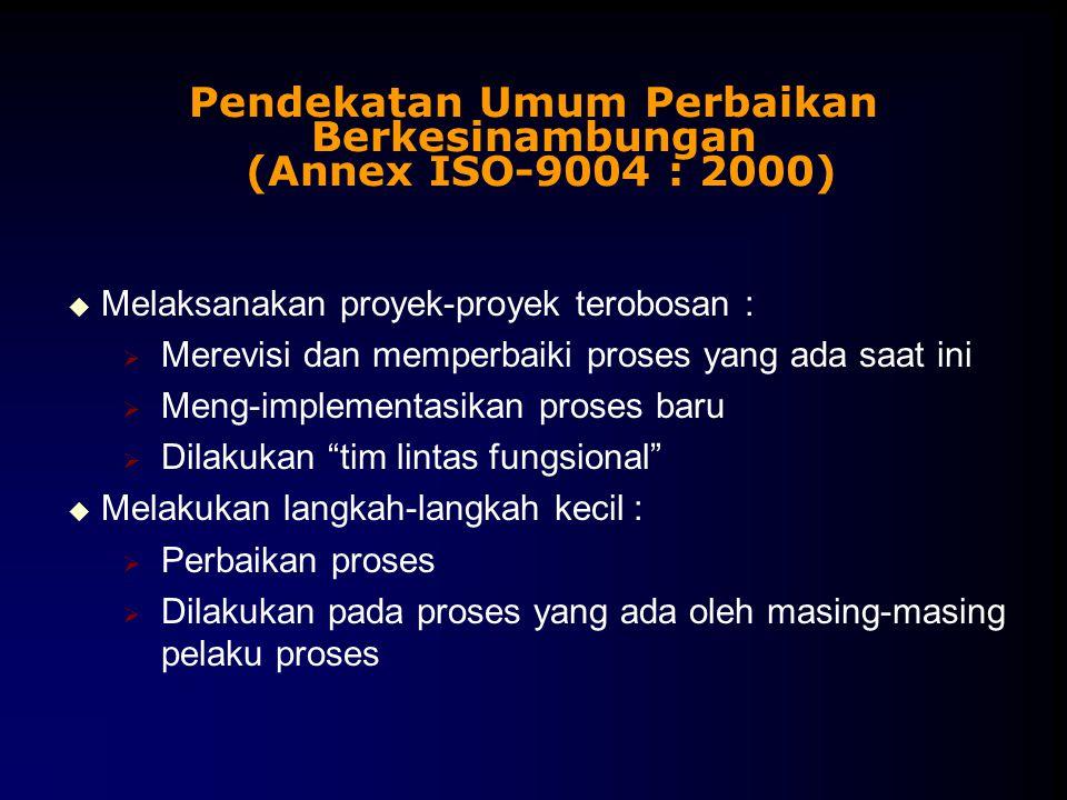 Pendekatan Umum Perbaikan Berkesinambungan (Annex ISO-9004 : 2000)