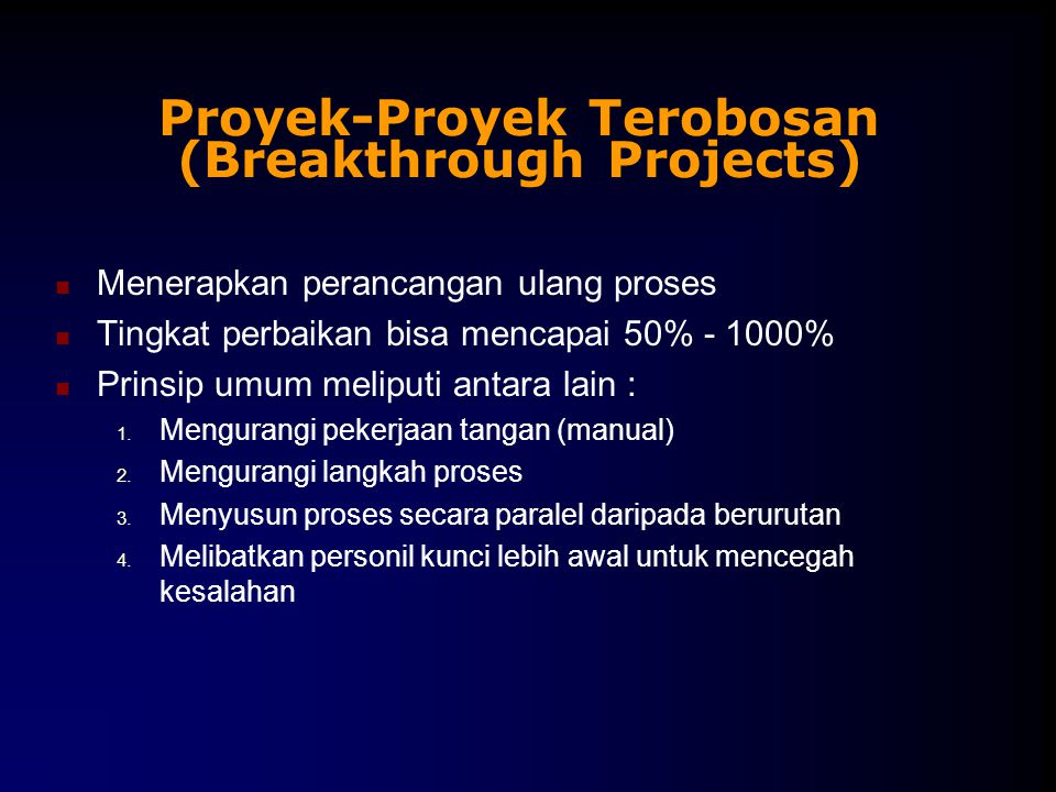 Proyek-Proyek Terobosan (Breakthrough Projects)