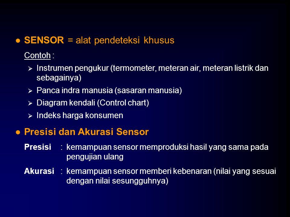 SENSOR = alat pendeteksi khusus