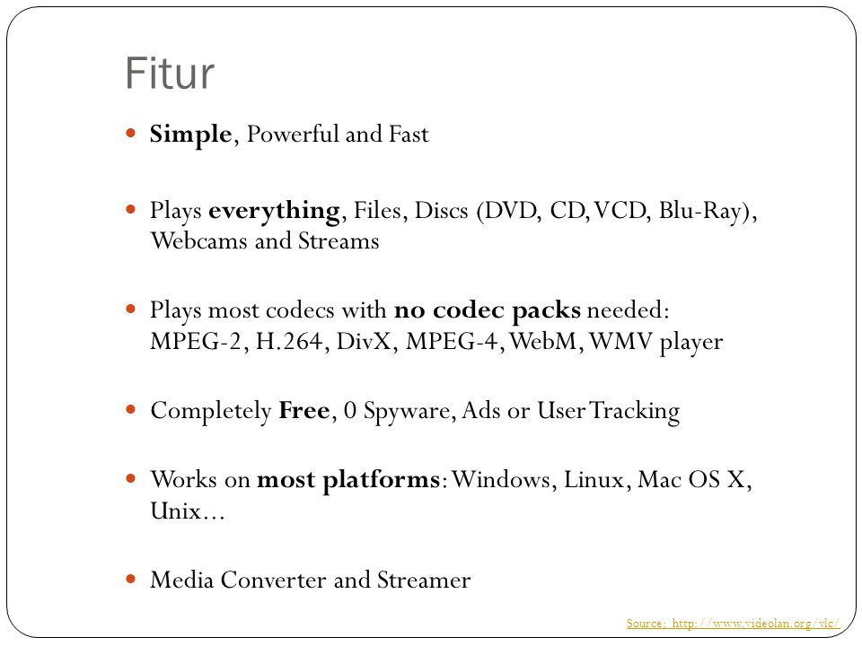 Fitur Simple, Powerful and Fast