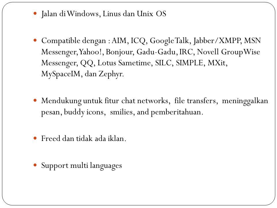 Jalan di Windows, Linus dan Unix OS