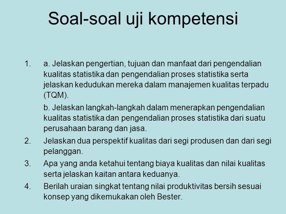 Soal-soal uji kompetensi