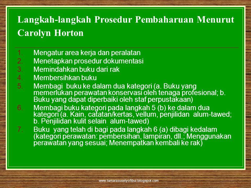 Langkah-langkah Prosedur Pembaharuan Menurut Carolyn Horton