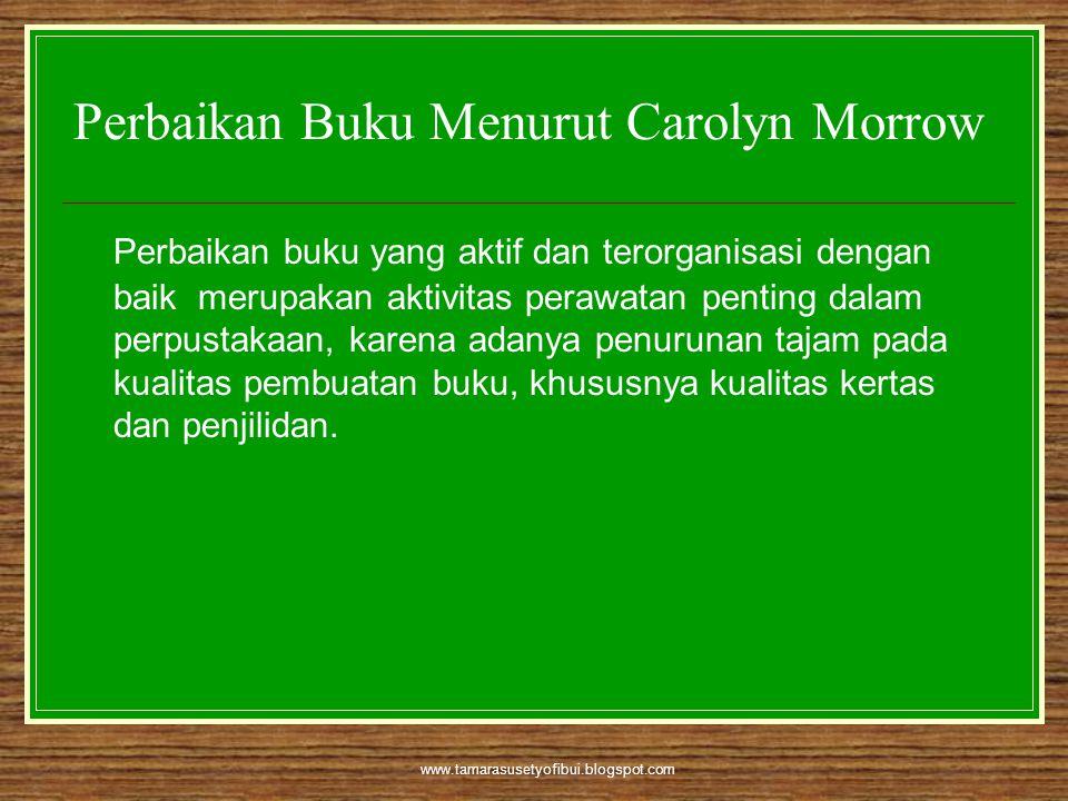 Perbaikan Buku Menurut Carolyn Morrow