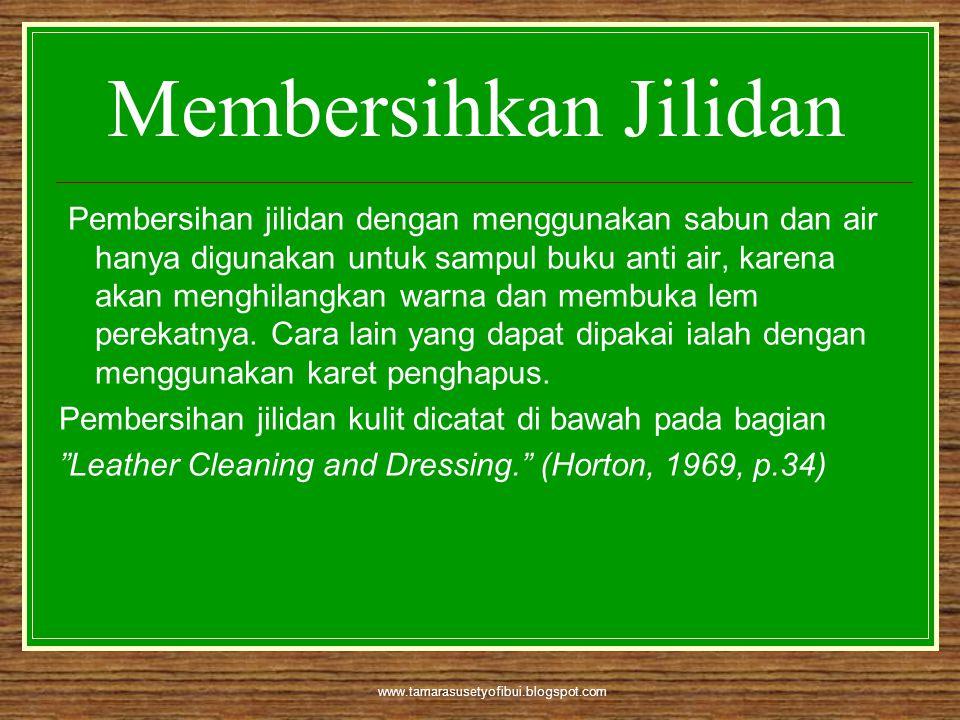 Membersihkan Jilidan