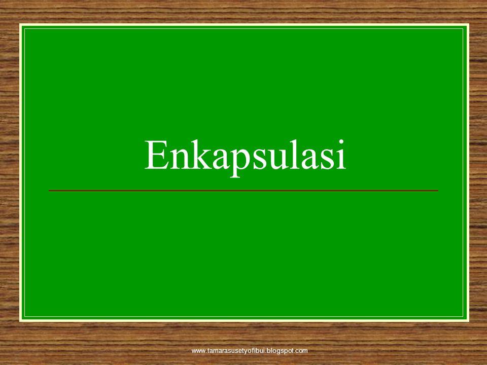Enkapsulasi www.tamarasusetyofibui.blogspot.com