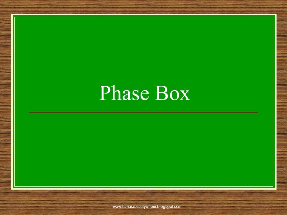 Phase Box www.tamarasusetyofibui.blogspot.com