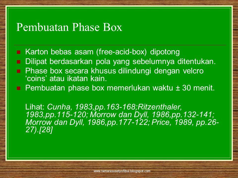 Pembuatan Phase Box Karton bebas asam (free-acid-box) dipotong