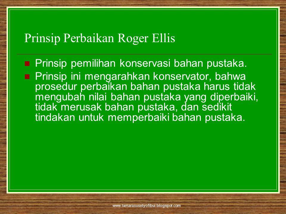Prinsip Perbaikan Roger Ellis