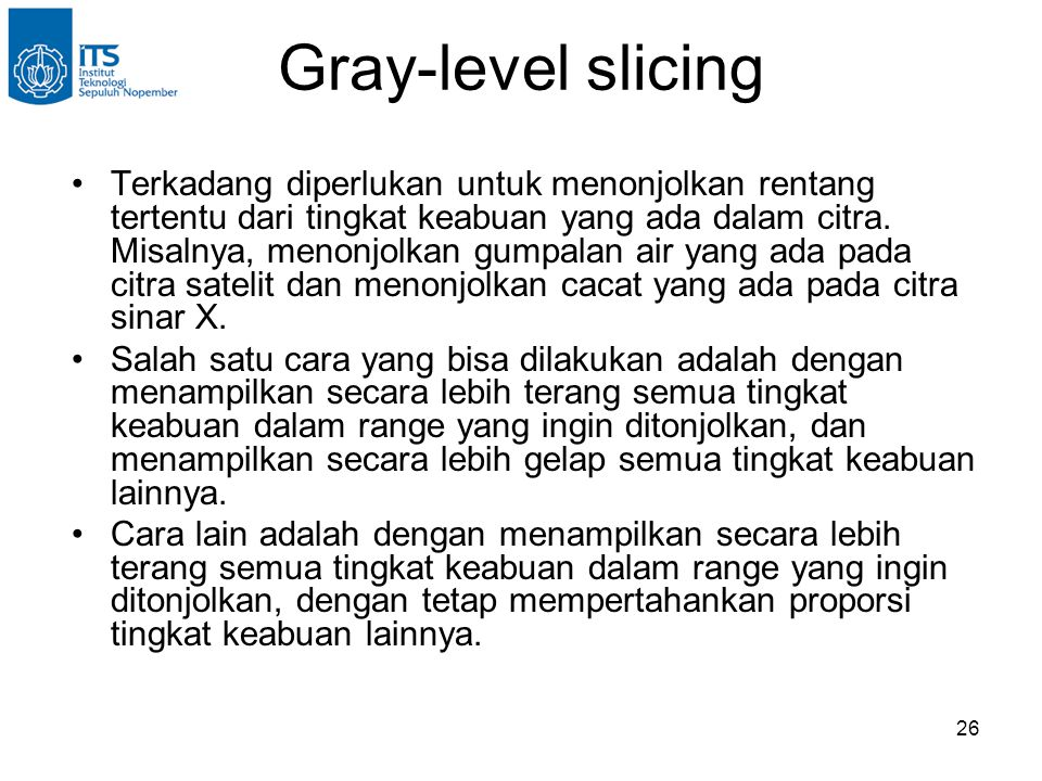 Gray-level slicing