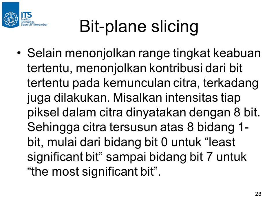 Bit-plane slicing