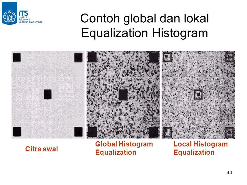 Contoh global dan lokal Equalization Histogram