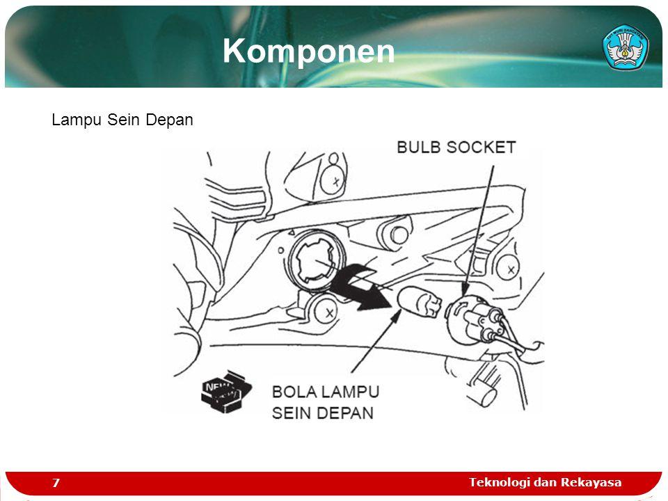 Komponen Lampu Sein Depan Teknologi dan Rekayasa