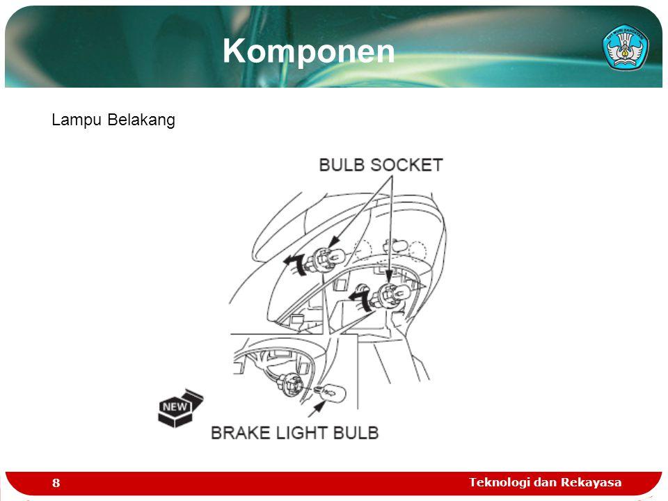 Komponen Lampu Belakang Teknologi dan Rekayasa