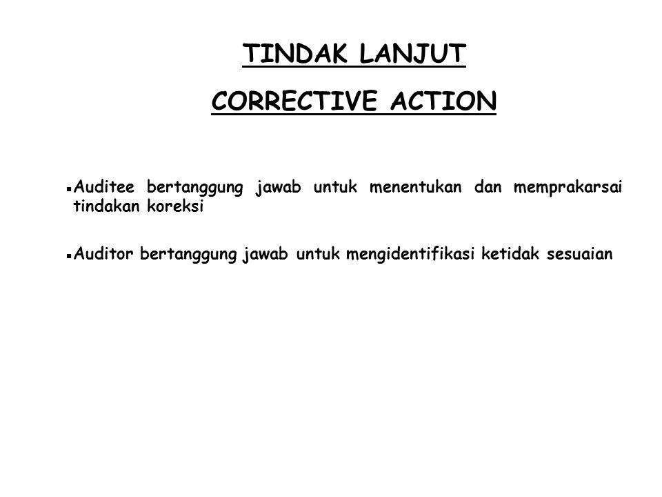 TINDAK LANJUT CORRECTIVE ACTION