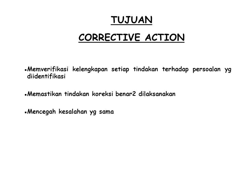 TUJUAN CORRECTIVE ACTION