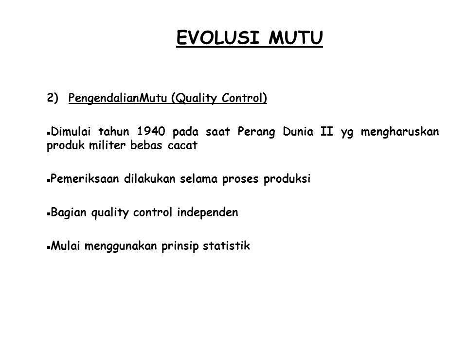 EVOLUSI MUTU PengendalianMutu (Quality Control)
