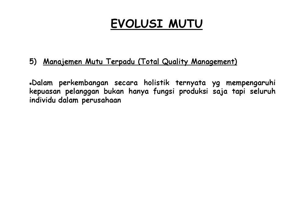 EVOLUSI MUTU Manajemen Mutu Terpadu (Total Quality Management)