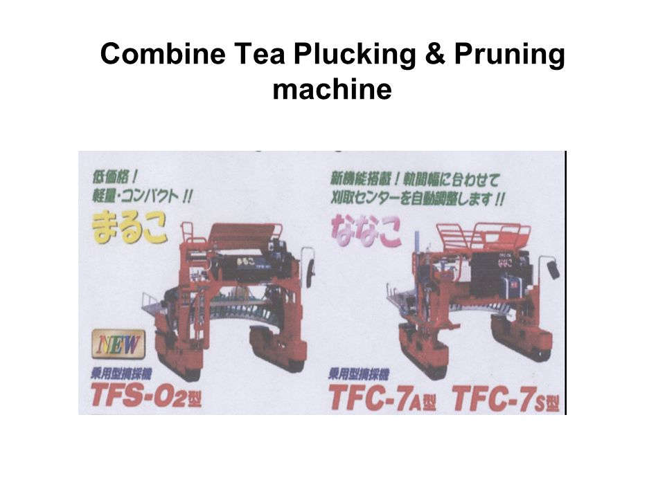 Combine Tea Plucking & Pruning machine