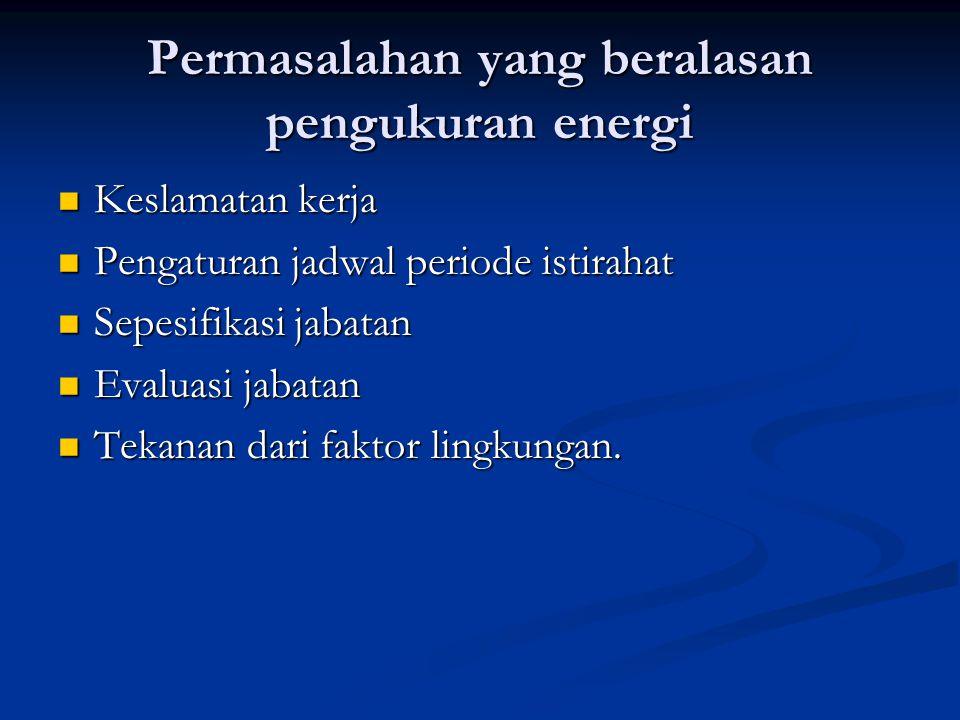 Permasalahan yang beralasan pengukuran energi