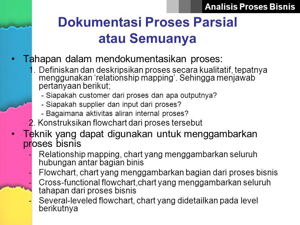Dokumentasi Proses Parsial atau Semuanya
