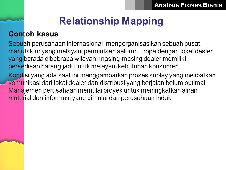 Relationship Mapping Contoh kasus