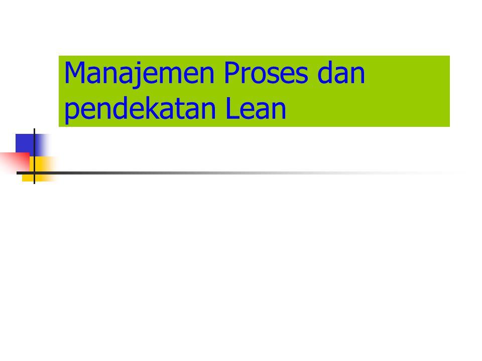 Manajemen Proses dan pendekatan Lean