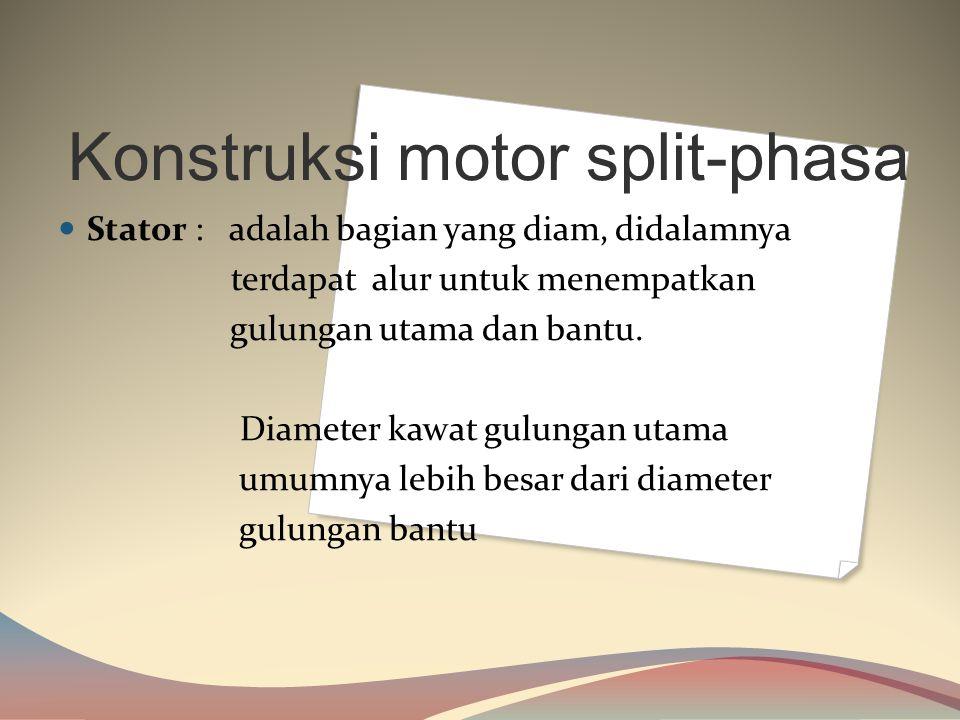 Konstruksi motor split-phasa