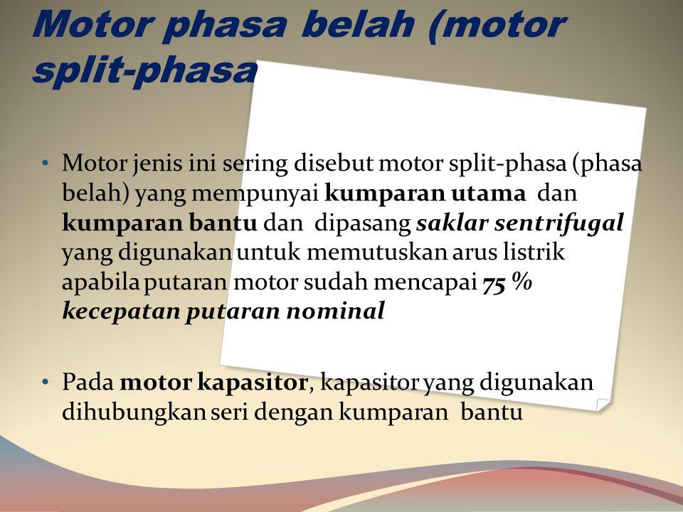Motor phasa belah (motor split-phasa