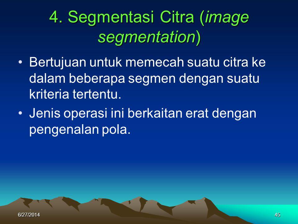 4. Segmentasi Citra (image segmentation)