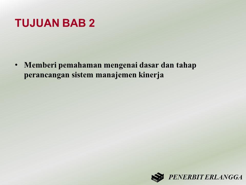 TUJUAN BAB 2 Memberi pemahaman mengenai dasar dan tahap perancangan sistem manajemen kinerja.