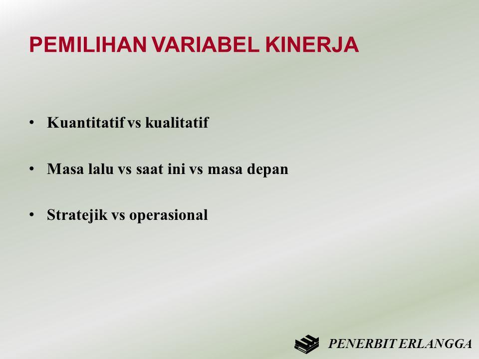 PEMILIHAN VARIABEL KINERJA