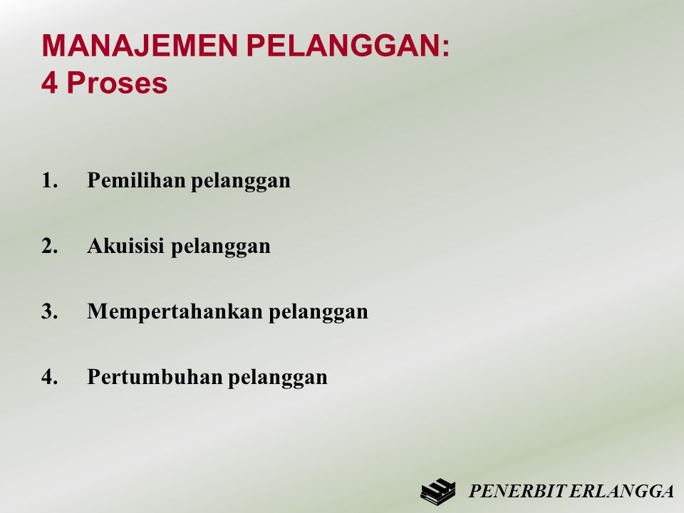 MANAJEMEN PELANGGAN: 4 Proses