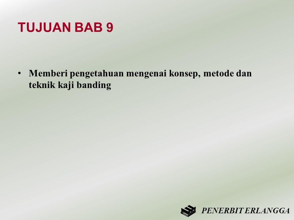 TUJUAN BAB 9 Memberi pengetahuan mengenai konsep, metode dan teknik kaji banding PENERBIT ERLANGGA