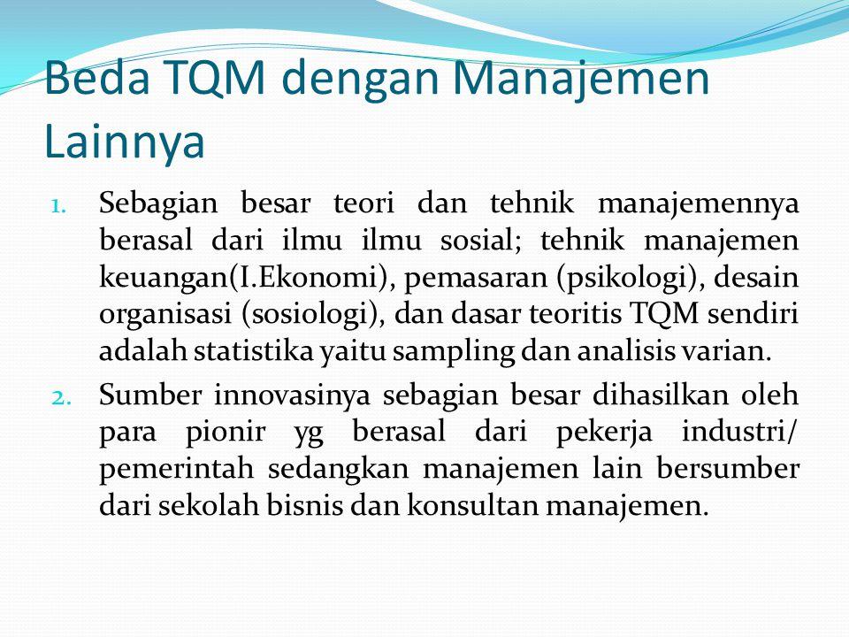 Beda TQM dengan Manajemen Lainnya