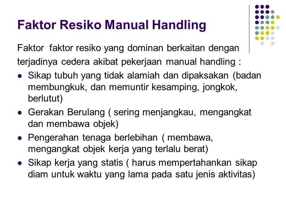 Faktor Resiko Manual Handling