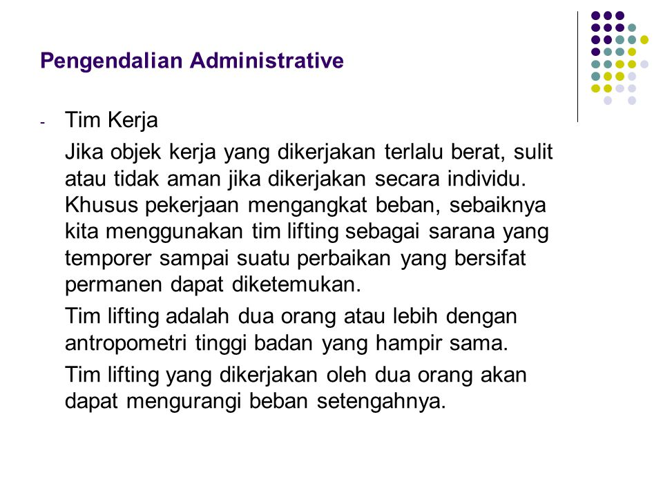Pengendalian Administrative