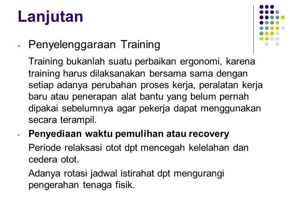 Lanjutan Penyelenggaraan Training