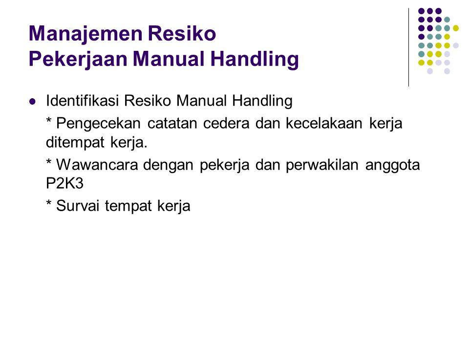 Manajemen Resiko Pekerjaan Manual Handling